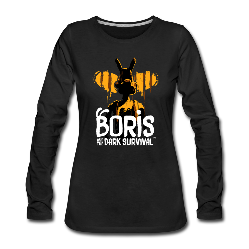 Boris and the Dark Survival - BATDS Title Long Sleeve T-Shirt (Womens) - black