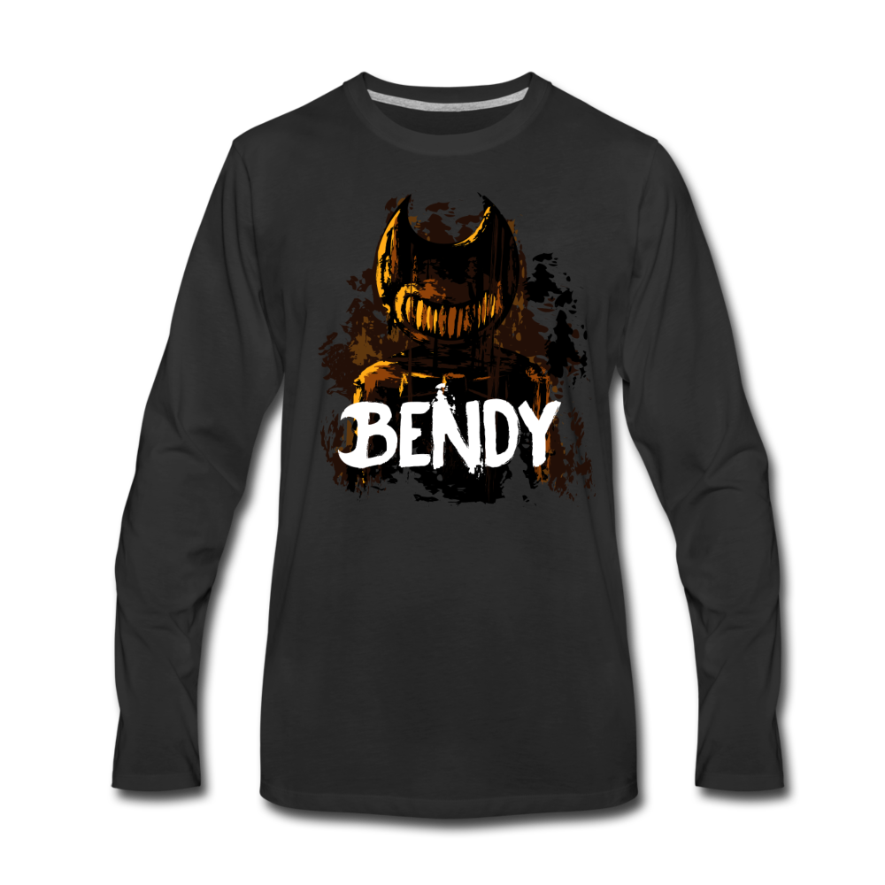 Boris and the Dark Survival - Survive Bendy Long Sleeve T-Shirt (Mens) - black