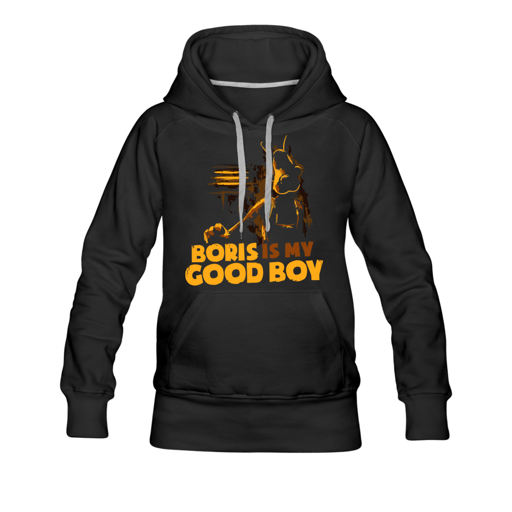 Boris and the Dark Survival - Good Boy Boris Hoodie (Womens) - black