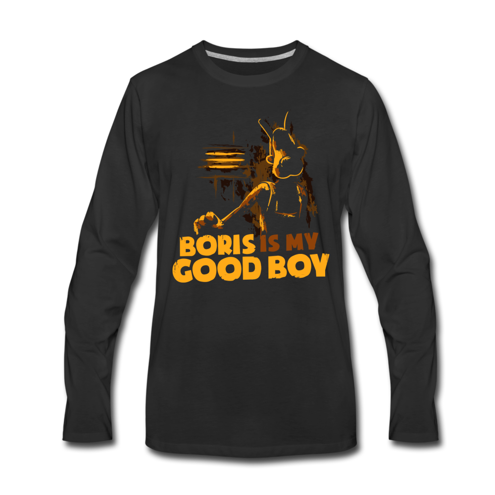 Boris and the Dark Survival - Good Boy Boris Long Sleeve T-Shirt (Mens) - black