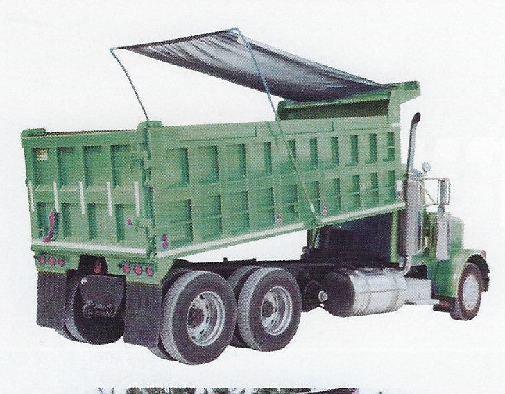 Tarps for Dump Trucks & Trailers  - PVC Coated Polyester Mesh.