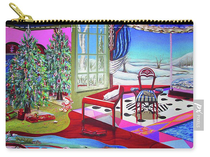 Christmas Painting - Carry-All Pouch - Sharon Tatem Fashion