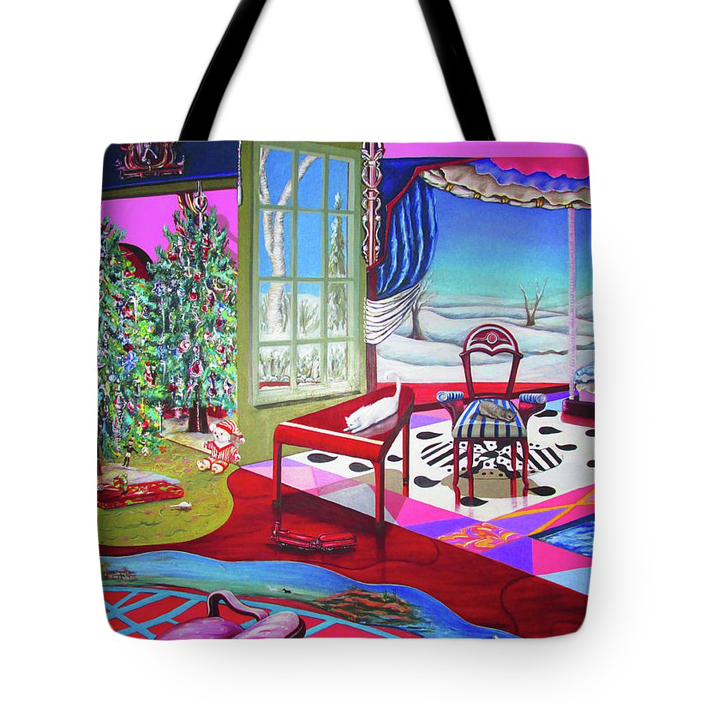 Christmas Painting - Tote Bag - Sharon Tatem Fashion