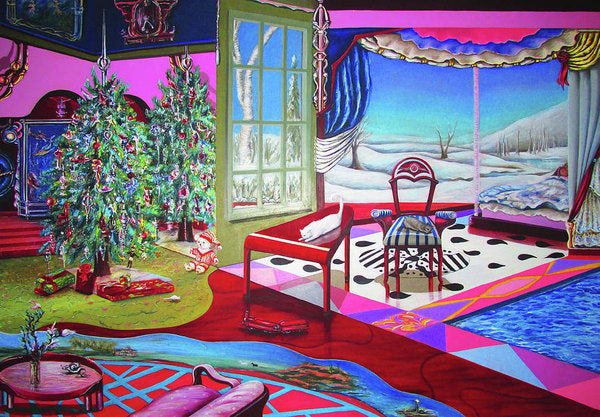 Christmas Painting - Art Print - Sharon Tatem Fashion