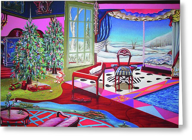 Christmas Painting - Greeting Card - Sharon Tatem Fashion