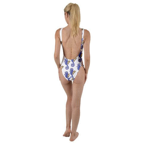 Seahorse One Piece Swimsuit High Legs