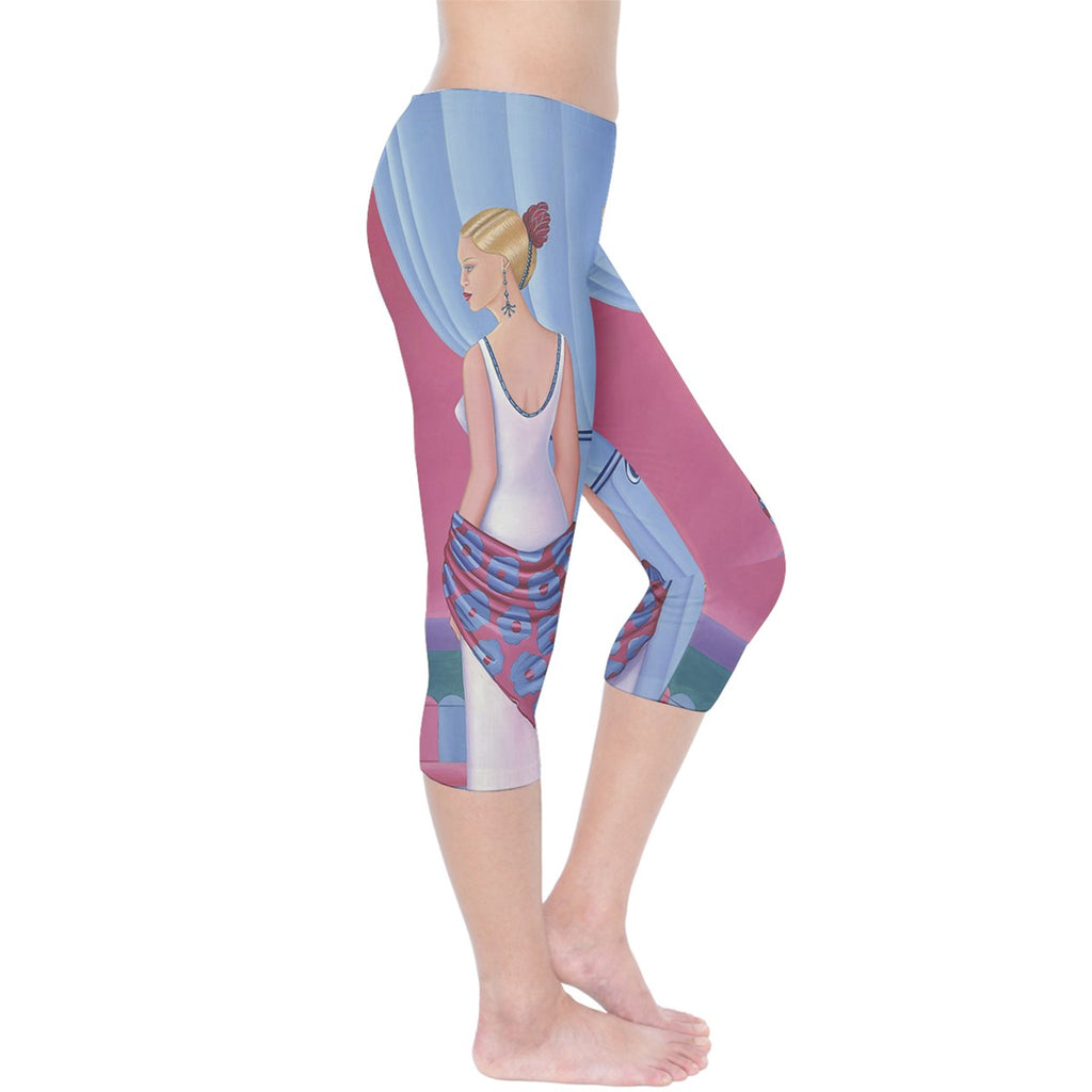 Palm Beach Perfume Art Collection Capri Leggings