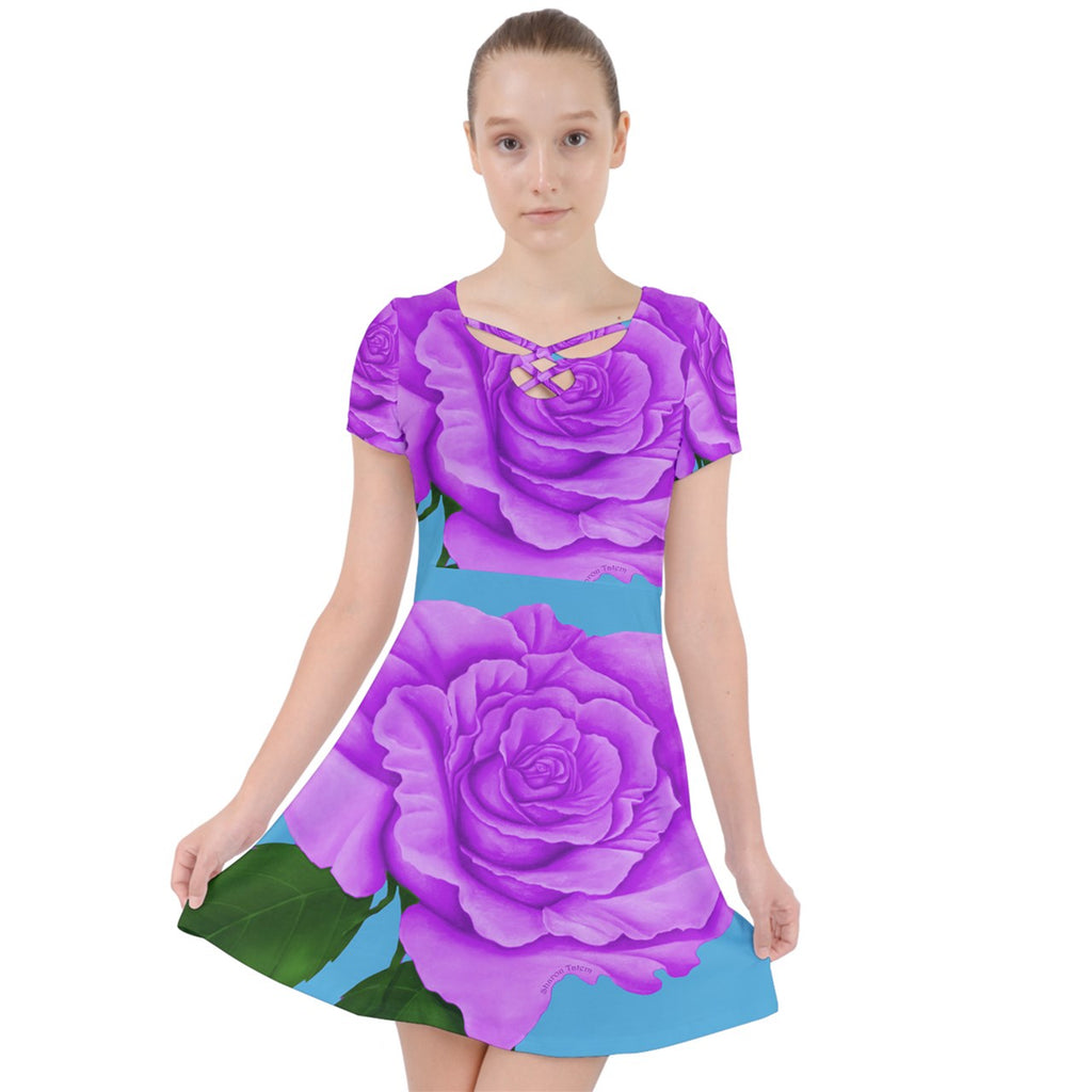 Purple Rose Dress Caught in a Web Dress