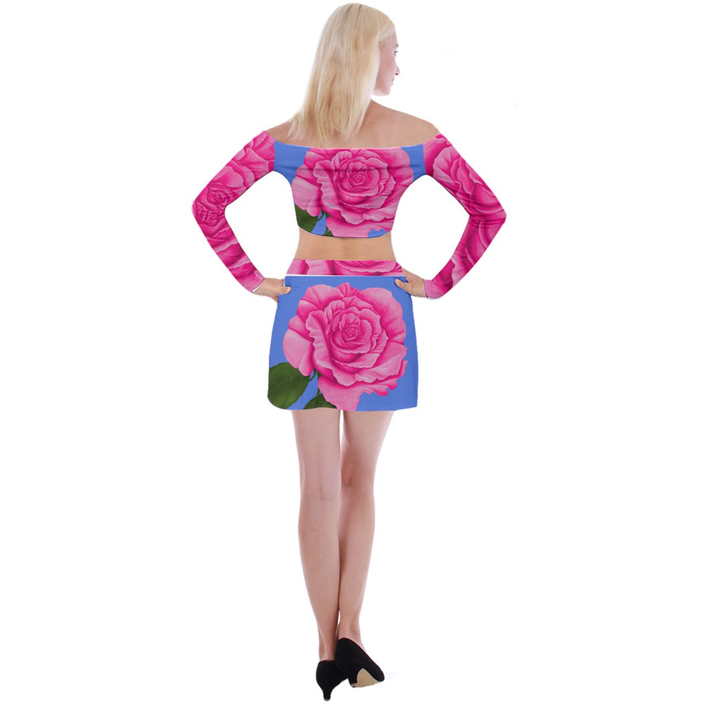 Roses Collections Bodycon Skirt Top Set