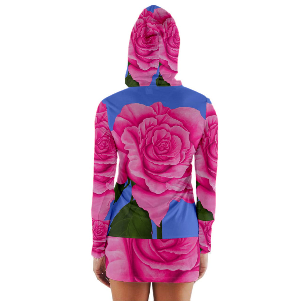 Roses Collections Long Sleeve Hooded T-shirt