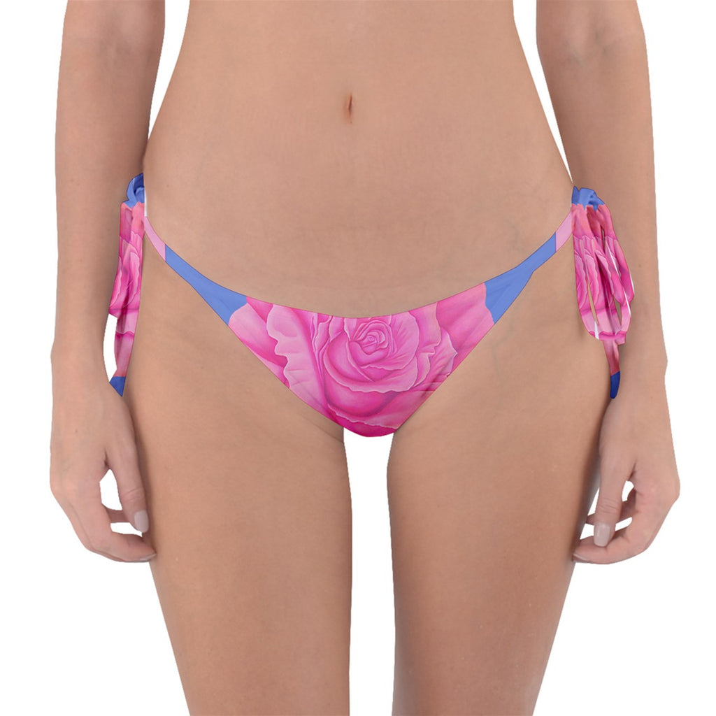 Roses Womens Fashion Reversible Bikini Bottom
