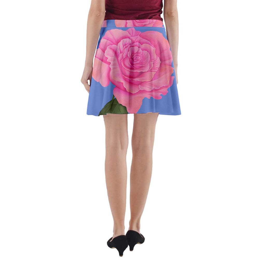 Roses Womens Fashion A-Line Pocket Skirt