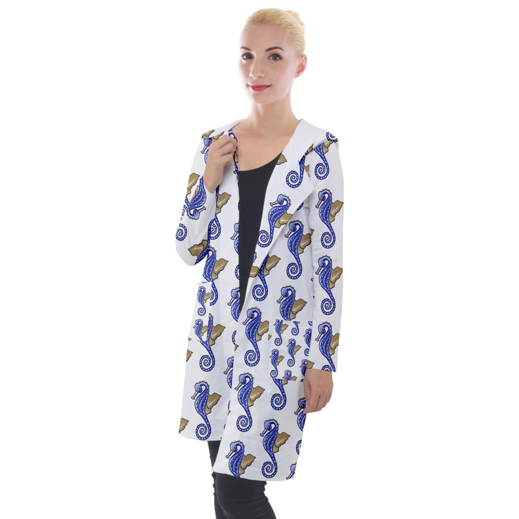 Seahorse Hooded Pocket Cardigan