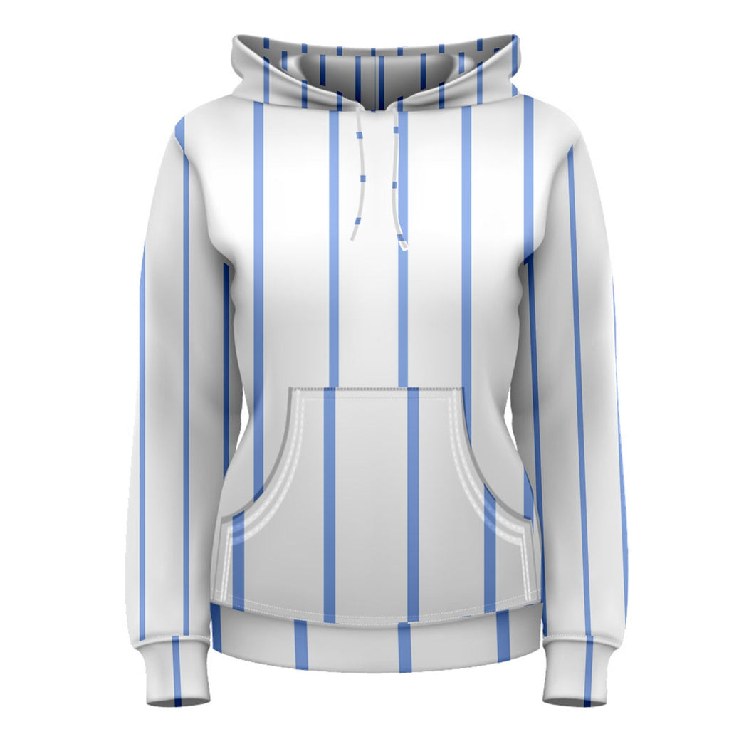 Blue Stripes Women's Pullover Hoodie