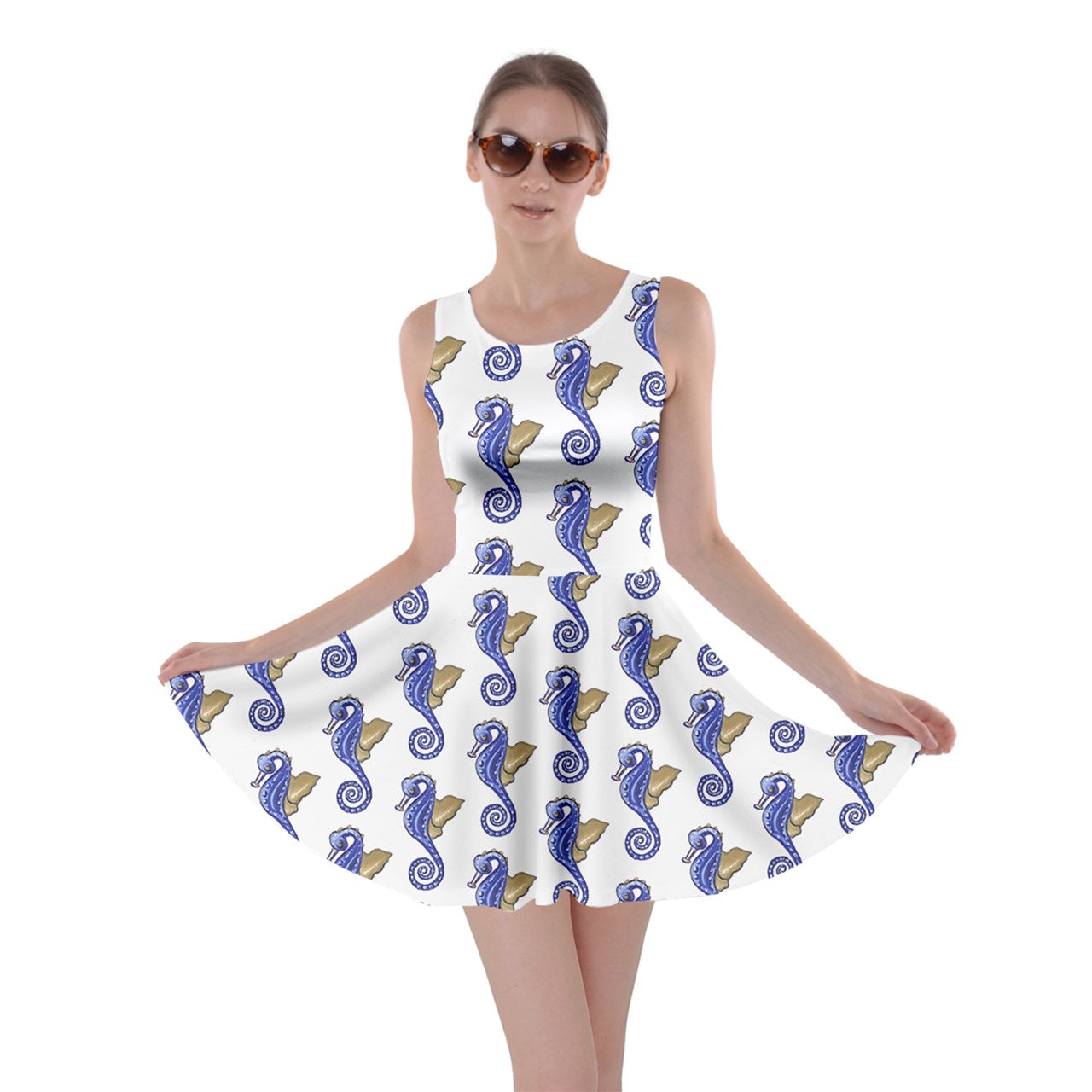 Seahorses Skater Dress - Sharon Tatem Fashion