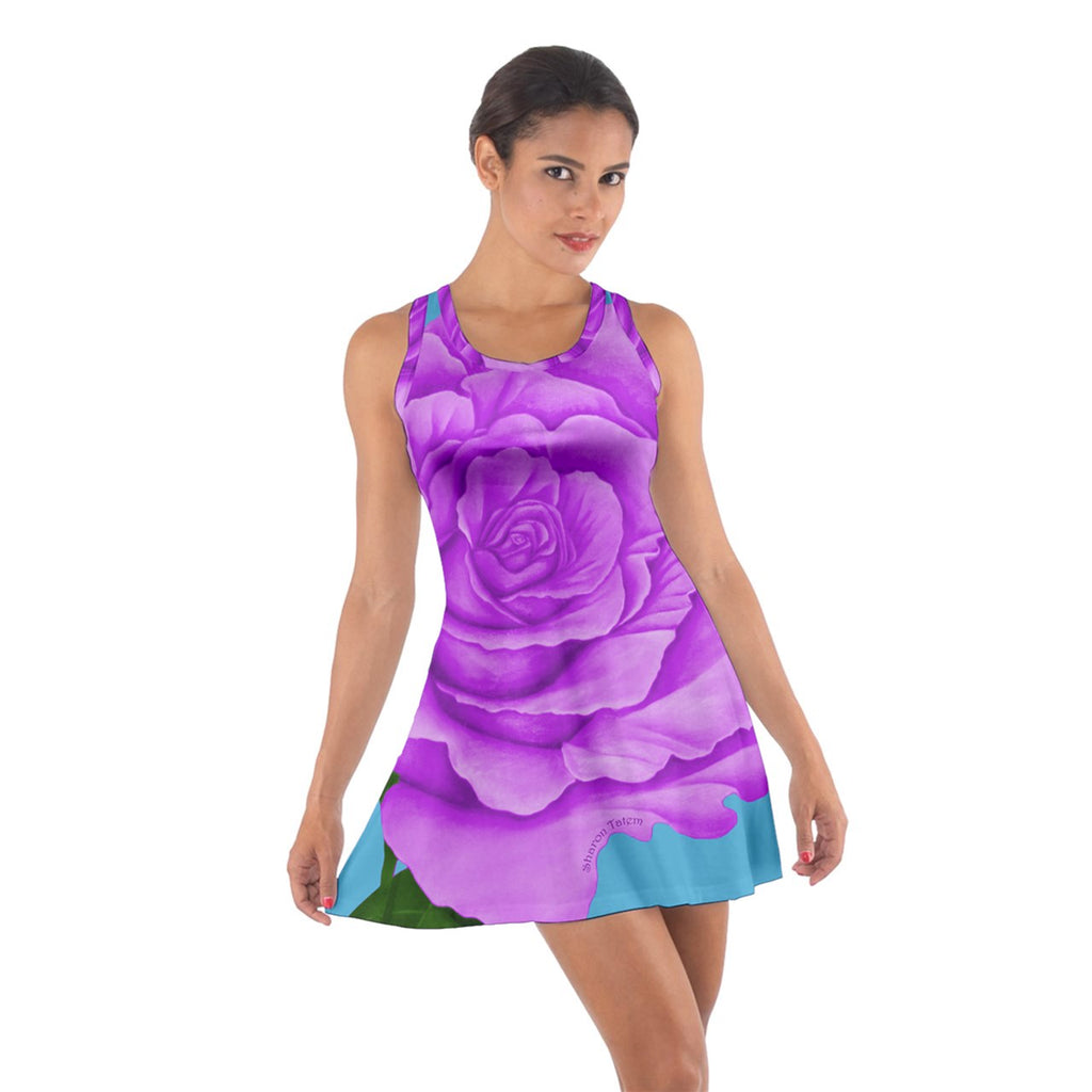 Purple Rose Cotton Racerback Dress
