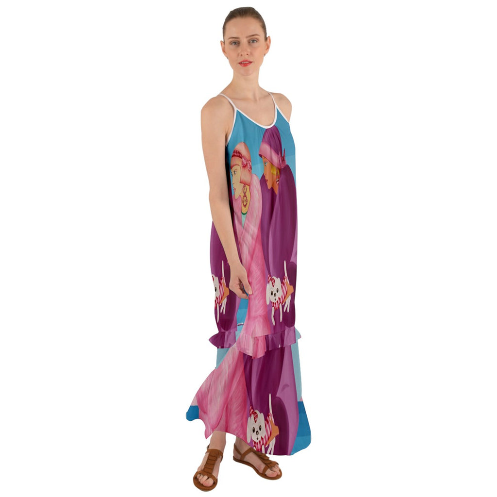 Maxi Ruffle Chiffon Dress Palm Beach Days Sharon Tatem Dresses
