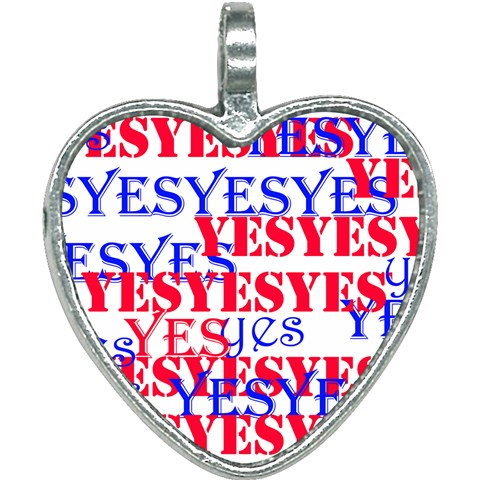 The Yes !  Stay Positive!The YES  Heart Necklace