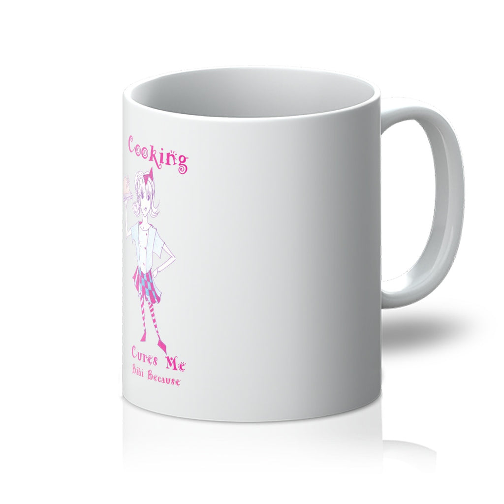 Bibi Because Cooking Cures Me  Mug - Sharon Tatem Fashion