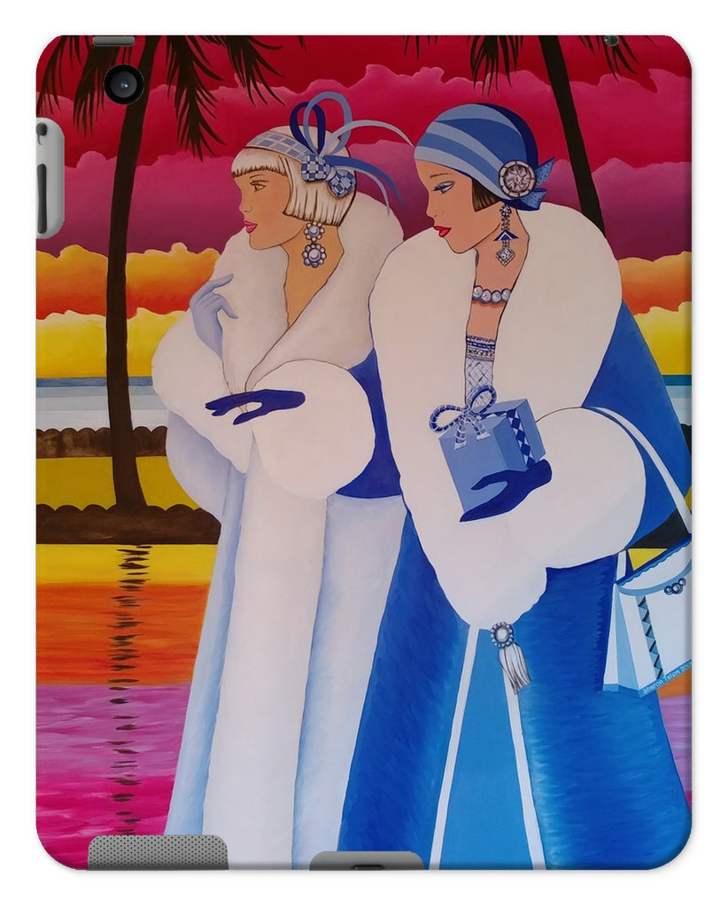 Palm Beach Blue Art Deco Tablet Cases - Sharon Tatem Fashion