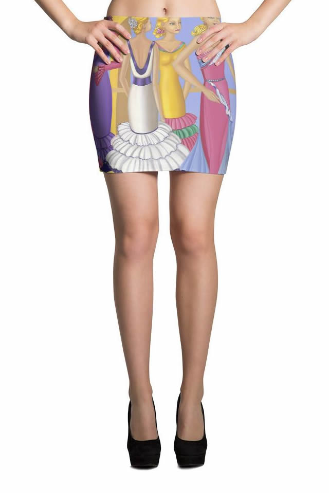 Printed Art Mini Skirt Collection - Sharon Tatem Fashion