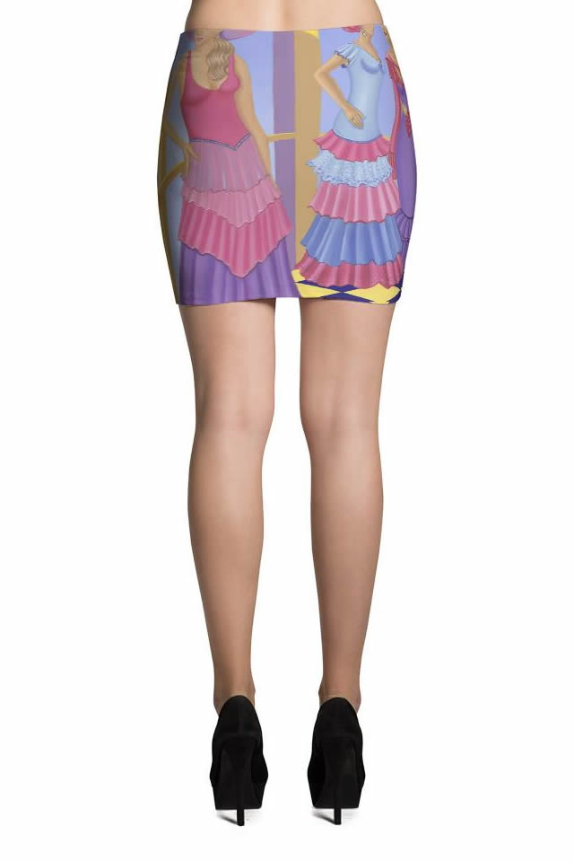 Mini Skirt Sharon Tatem Fashion Printed Art Mini Skirt Collection - Sharon Tatem Fashion