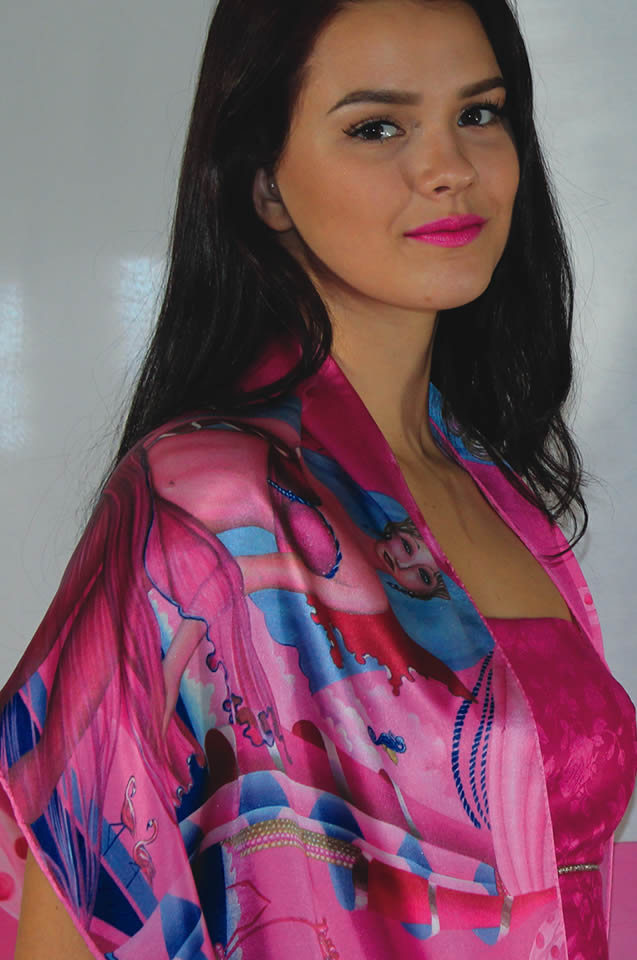 Silk Scarf Printed Large Shawl Silk Scarf - Sharon Tatem Fashions