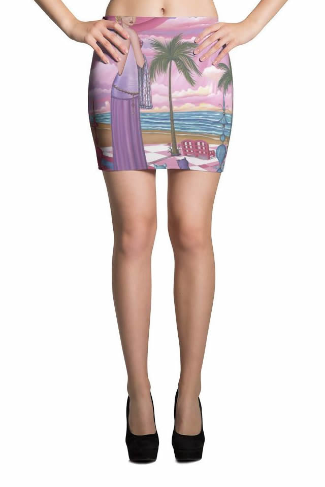 Sharon Tatem Fashion Stretch Mini Skirt Melissa - Sharon Tatem Fashions