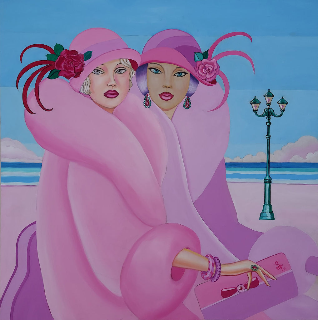 Original Painting Palm Beach Ladies