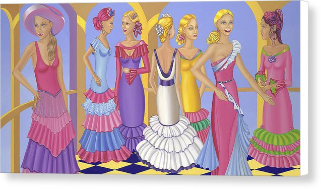 All About The Dress Canvas Print - Sharon Tatem Fashion