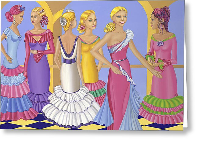 All About The Dress - Greeting Card - Sharon Tatem Fashion