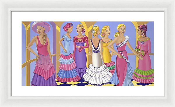 All About The Dress - Framed Print - Sharon Tatem Fashion
