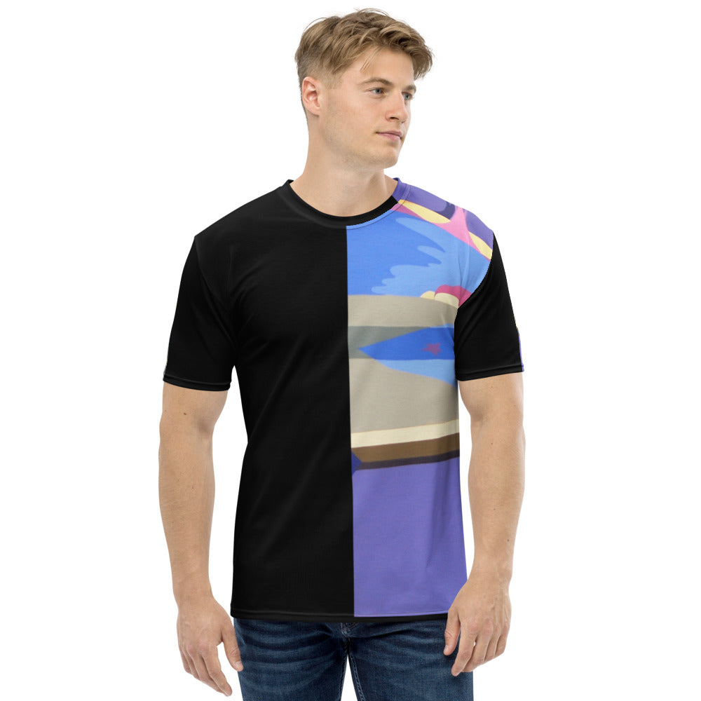 Men's T-shirt Fashion Blue Purple Black Graphic Designs Sharon Tatem Fashions