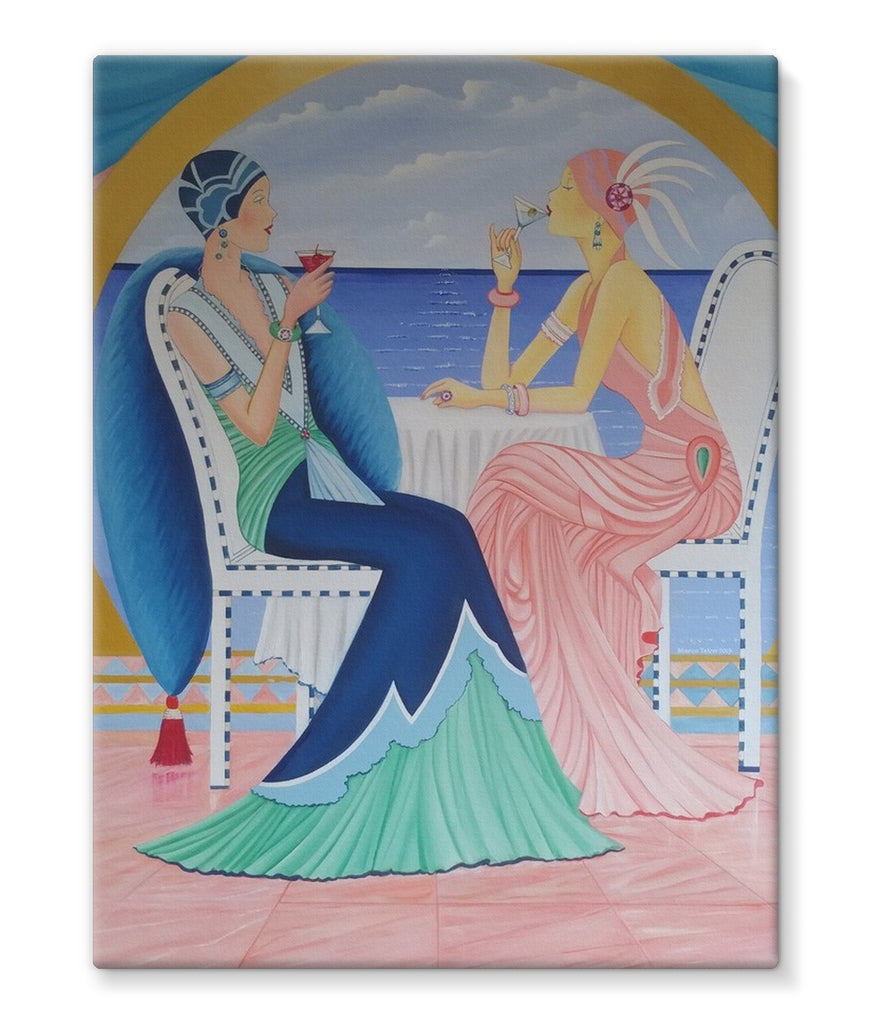 Art Deco Cruising Women Canvas - Sharon Tatem Fashion