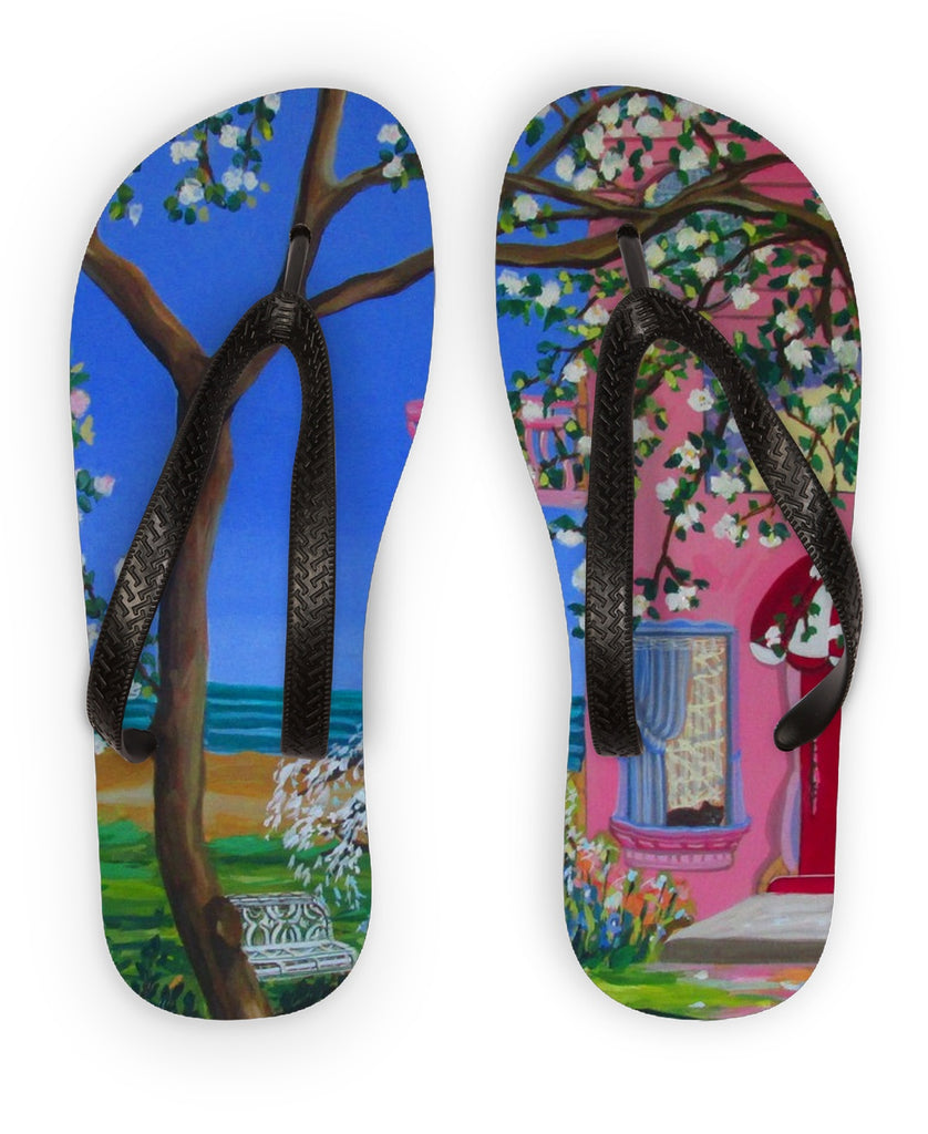 Beach House Cottage Flip Flops