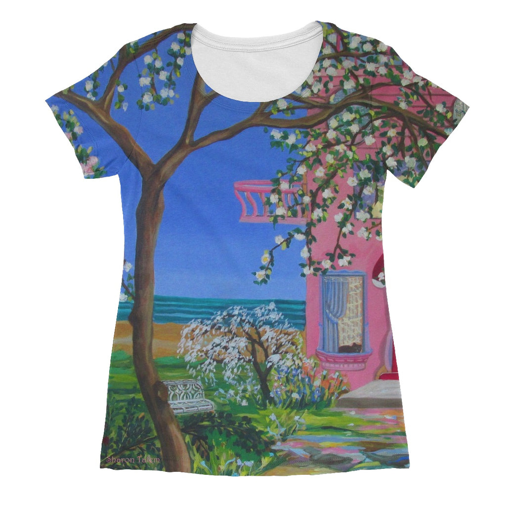 Beach House Cottage Women's Sublimation T-Shirt