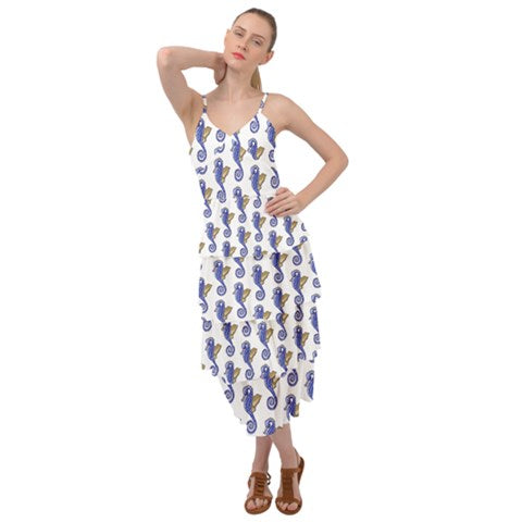 Seahorses Layered Dress - Sharon Tatem Fashion
