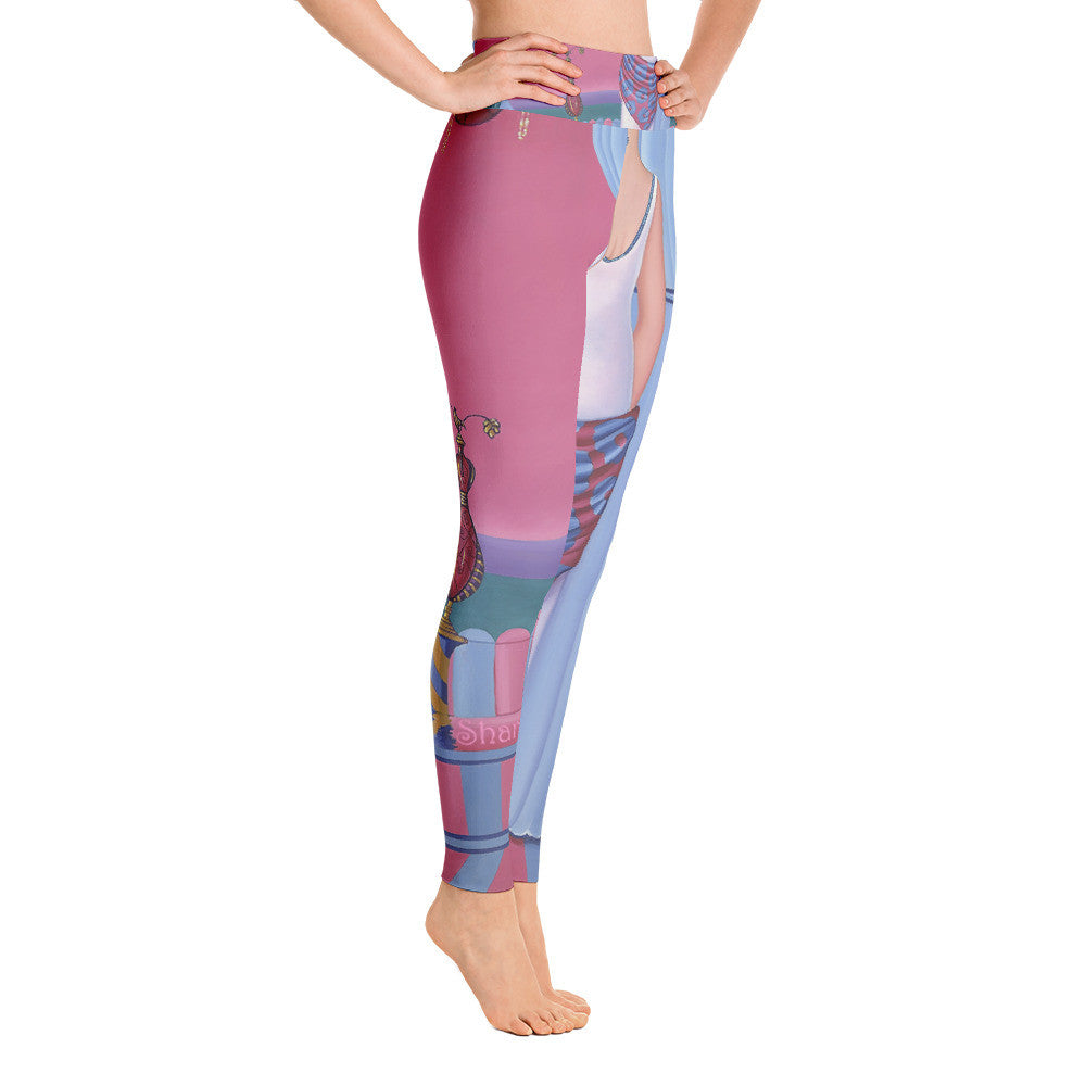Yoga Leggings Sharon Tatem Printed Fashion Perfume Collection