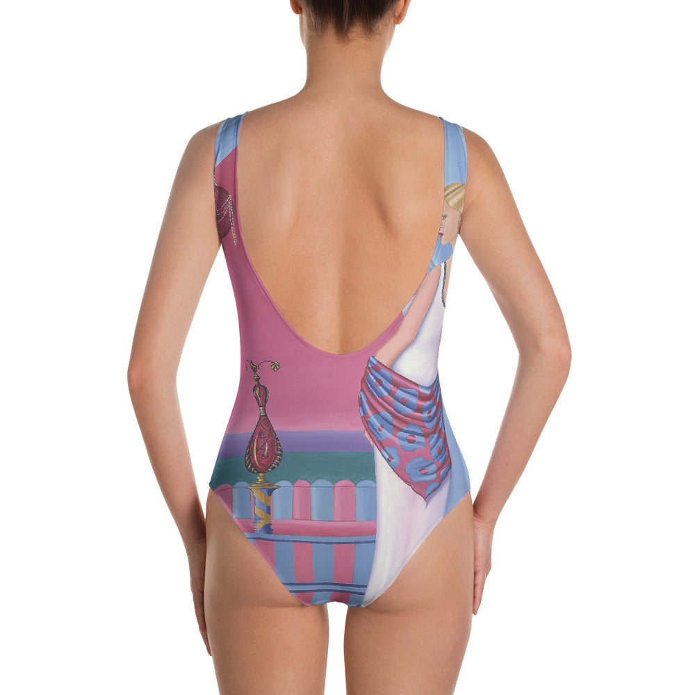 Perfume One-Piece Swimsuit - Sharon Tatem Fashions