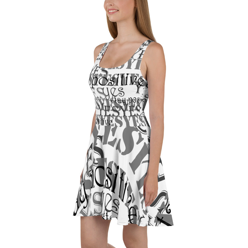 Stay Positive! The Yes Skater Dress
