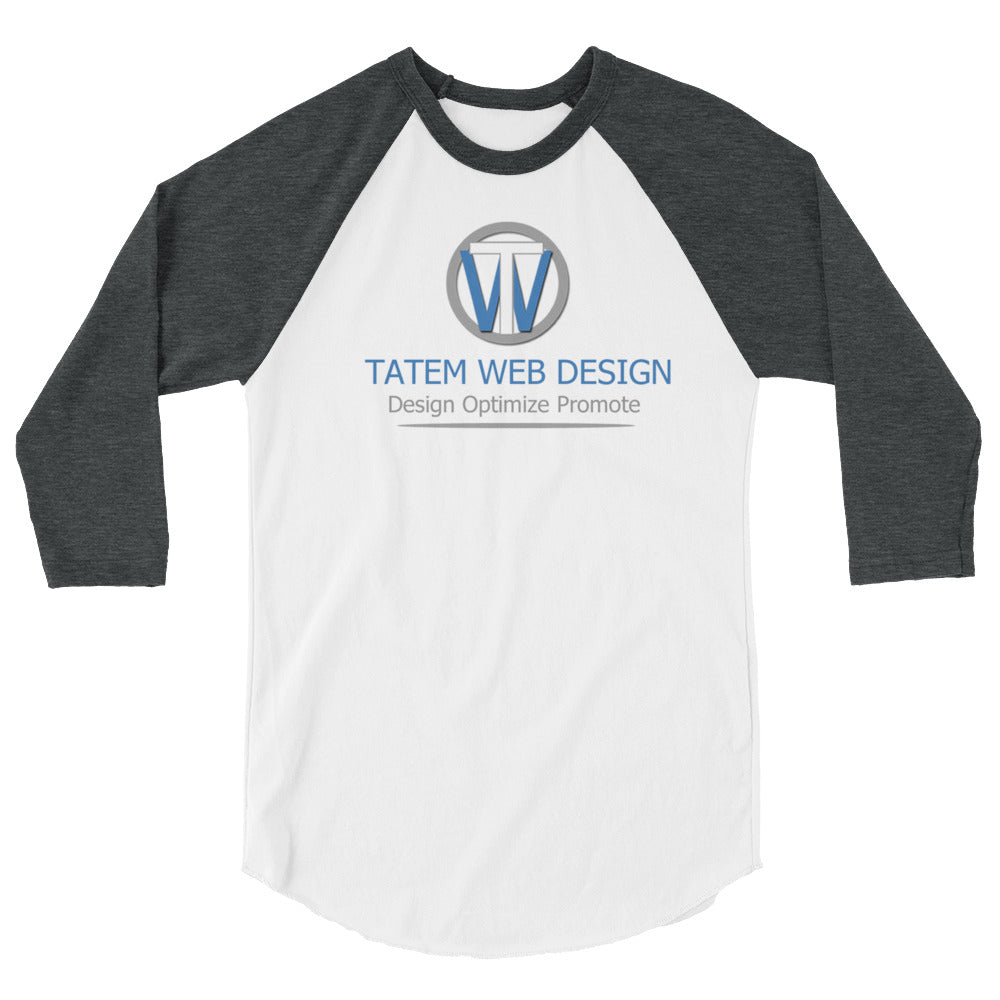 Tatem Web Design Company Sleeve T-shirt 3/4 sleeve raglan shirt - Sharon Tatem Fashion