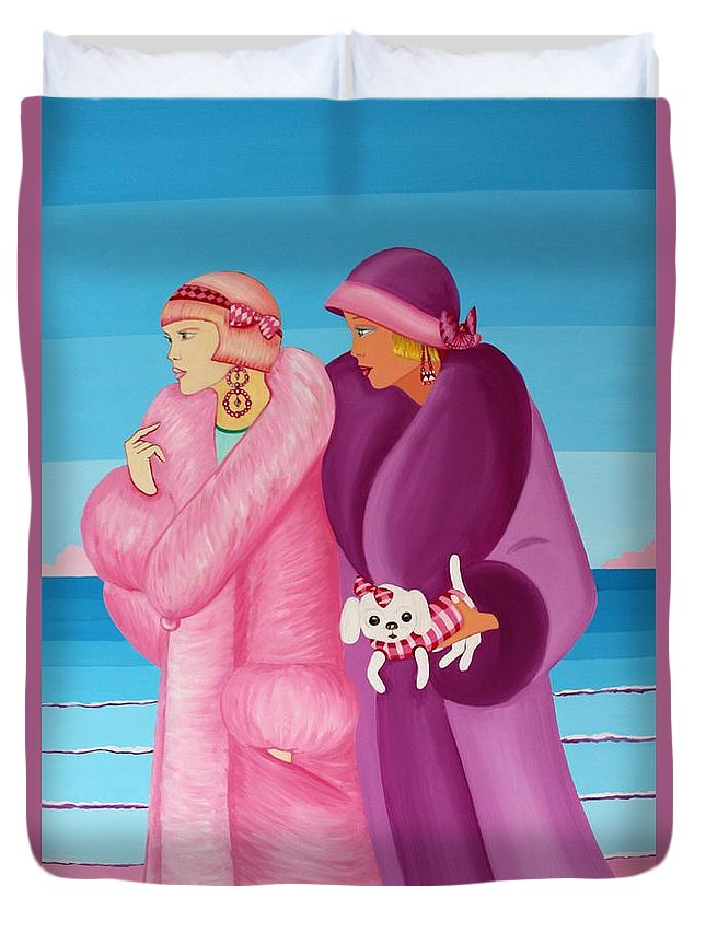 Palm Beach Days  - Duvet Cover