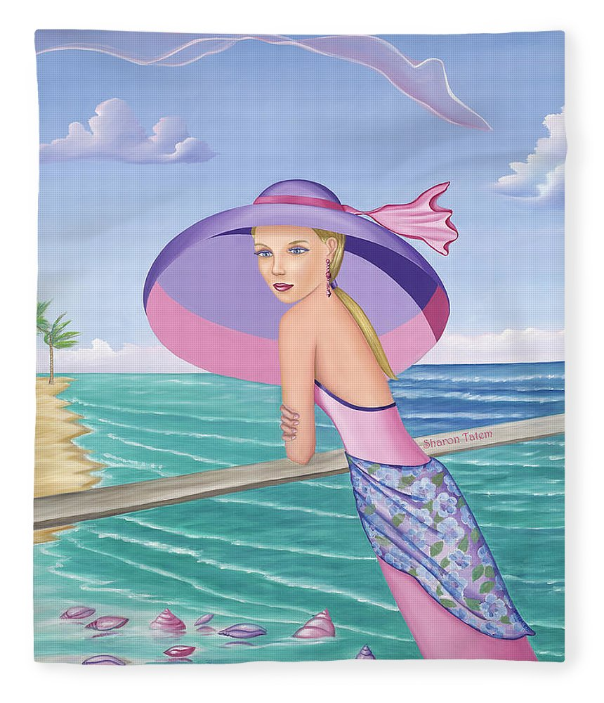Palm Beach Purple - Blanket - Sharon Tatem Fashion