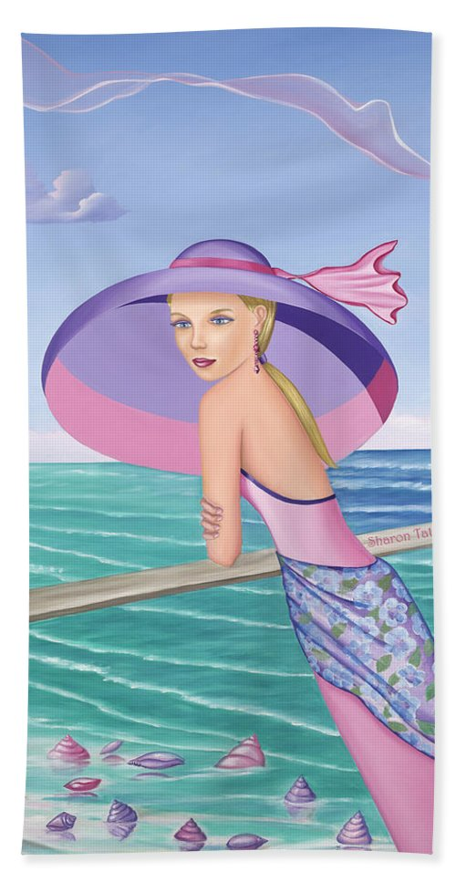Palm Beach Purple - Beach Towel - Sharon Tatem Fashion