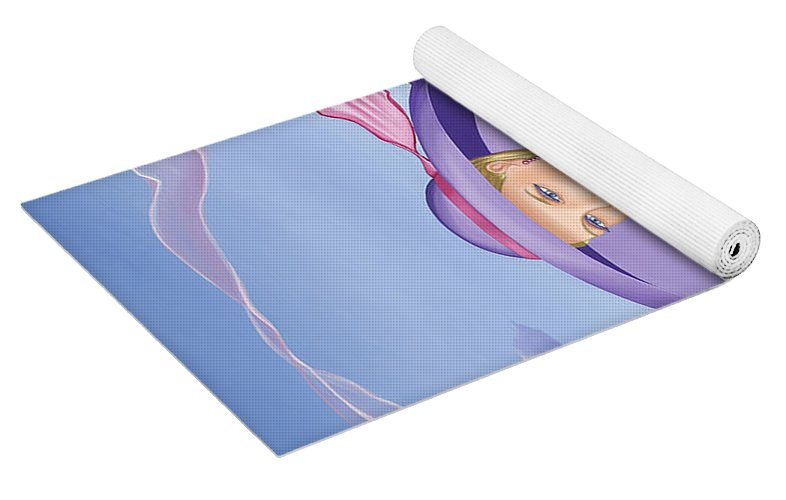 Palm Beach Purple - Yoga Mat - Sharon Tatem Fashion