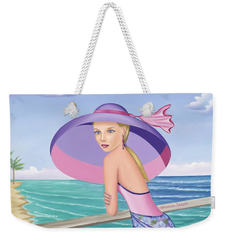 Palm Beach Purple - Weekender Tote Bag - Sharon Tatem Fashion