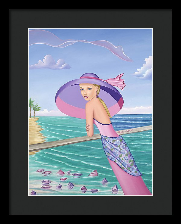 Palm Beach Purple - Framed Print - Sharon Tatem Fashion