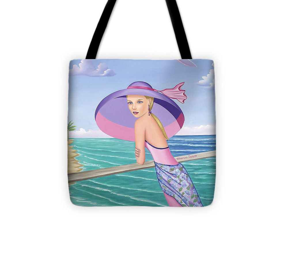 Palm Beach Purple - Tote Bag - Sharon Tatem Fashion