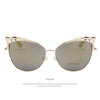Women Luxury Cat Eye Sun Glasses Alloy Frame