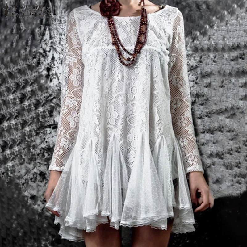 Women Lace Long Sleeve Lace Crochet Blouse Spring Black Tops Shirts
